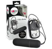 EROSTYLE - tyčový vibrátor na diaľkové ovládanie (čierny)