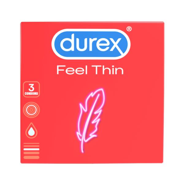 Durex Feel Thin - kondómy s realistickým pocitom (3ks)