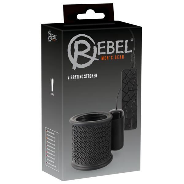 Rebel Stroker – dráždiaca manžeta na penis (čierna)