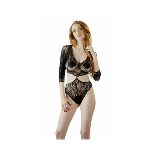 Lace body with 34 finger (black)