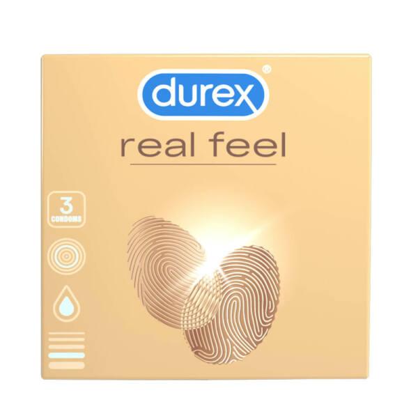 Durex Real Feel - bezlatexové kondómy (3 ks)