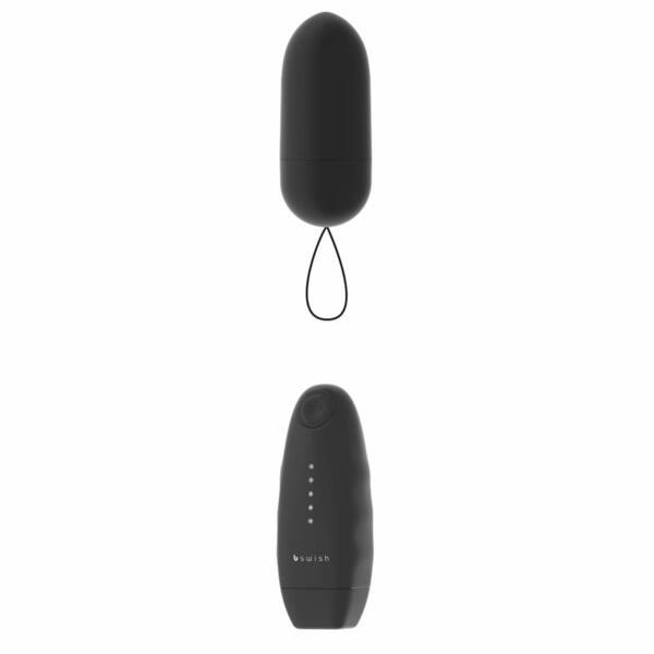 B SWISH - rádiom riadené vibračné vajíčko (čierne)