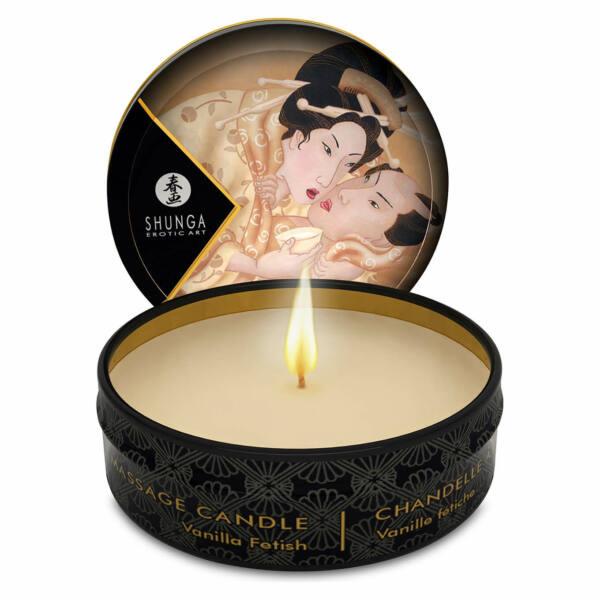 Shunga - masážna sviečka (vanilka) - 30ml