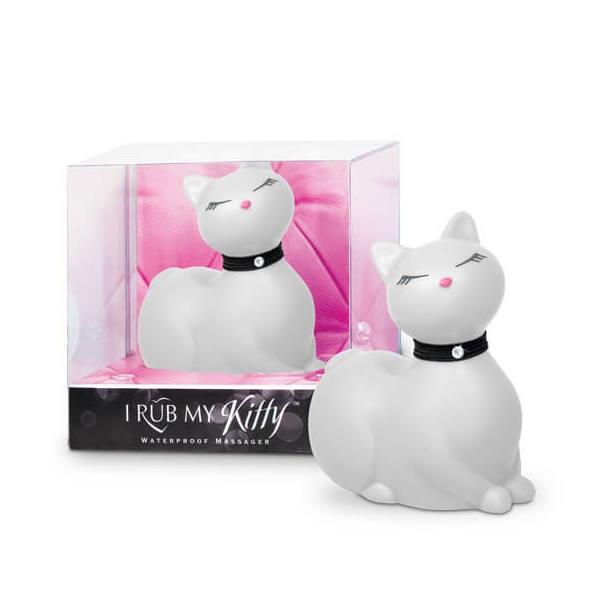 I Rub My Kitty - pradúca mačička - vibrátor na klitoris (biely)