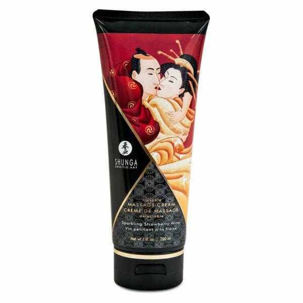 Shunga - Massage Cream Strawberry 200 ml