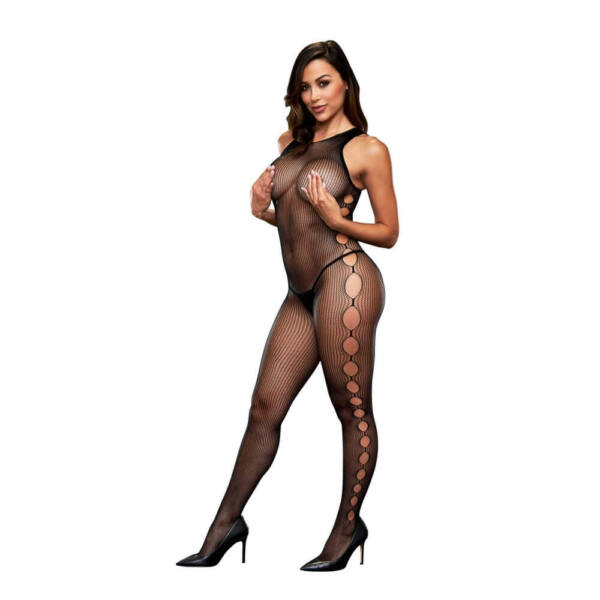 Baci - Open Side Sleeveless Bodystocking One Size