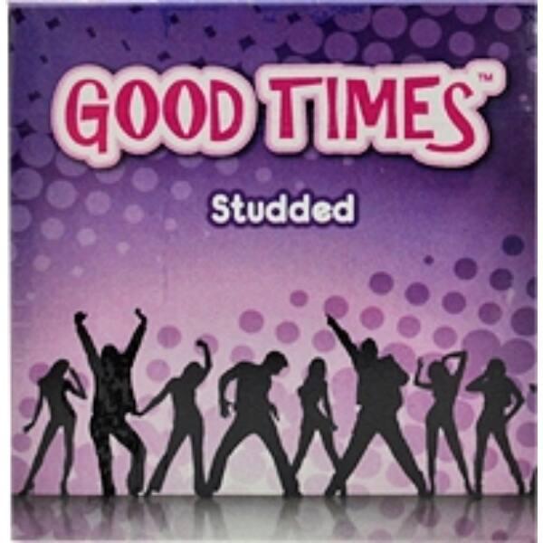 Good Times Studded - kondómy s hrbolčekovitým povrchom(3 ks)