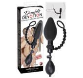 You2Toys Double Devotion  - krúžok na penis s análnym balónikom