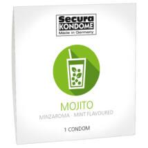 Secura Mojito - kondómy s príchuťou mentolu (1ks)