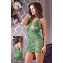 MandyMystery – kvietkované mini šaty s tangami (zelené)