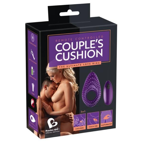 Couples Cushion 3 in 1 – nabíjací párový vibrátor (fialový)