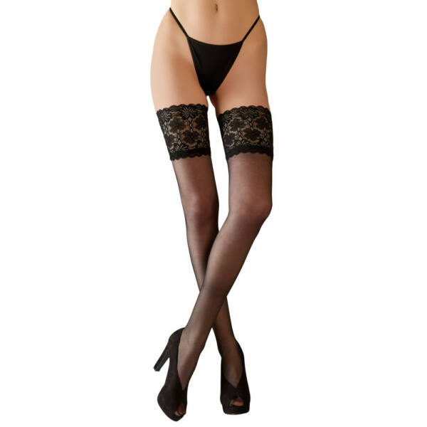 Cottelli - Thong with Broad Lace Thread (Black)