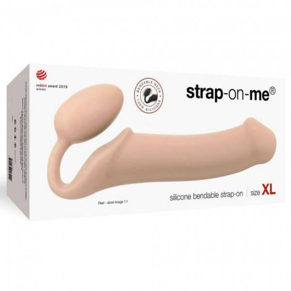 Strap-on-me XL – pripínacie dildo bez upevňovacieho pásu – veľké (telová farba)