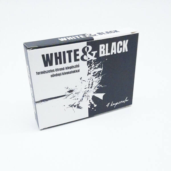 White & Black - silný výživový doplnok pre mužov (4ks)