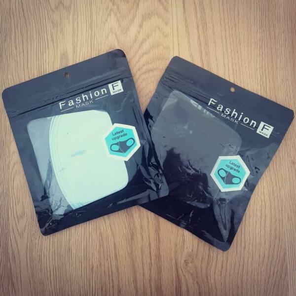 Fashion - textilné ochranné rúško - čierne (1ks)