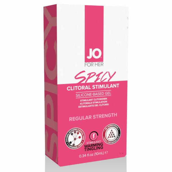 System JO Clitoral Stimulant Warming Spicy - stimulačný gél na klitoris pre ženy (10ml)