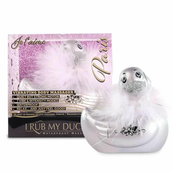 My Duckie Paris 2.0 - vibrátor na klitoris - hravá vodotesná kačička (strieborná)